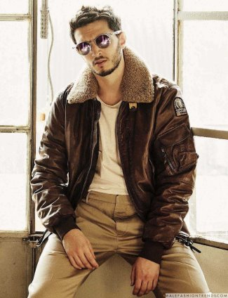 Giacomo Ferrara fashion leather jacket