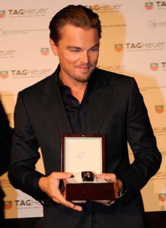 Leonardo DiCaprio Tag Heuer Monaco Twenty Four Calibre 36 Chronograph - 150th anniv paris