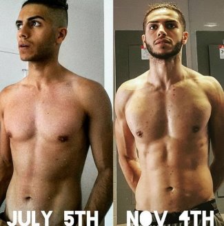 Mena Massoud body workout before and after