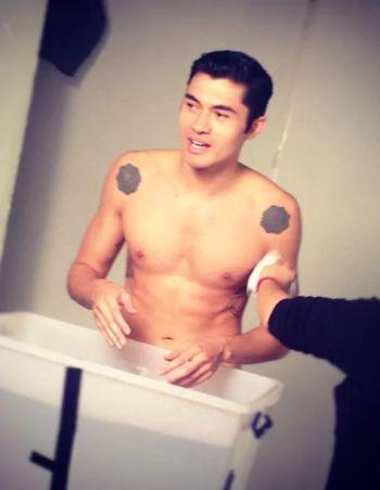 henry golding shirtless hunk