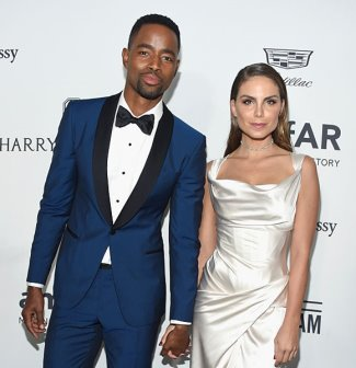 Jay Ellis and girlfriend Nina Senicar