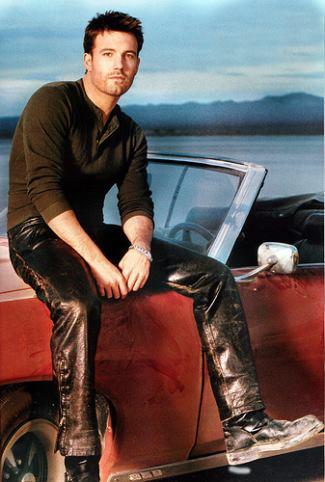 actors in leather pants - ben affleck