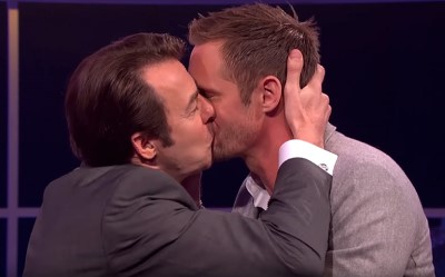 alexander skarsgard gay kiss Jonathan Ross