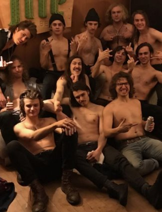 joe keery shirtless with post animal boy banders