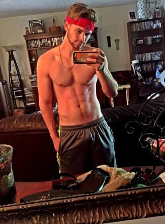 kenton duty gay shirtless in shorts