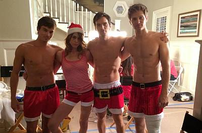 tyler blackburn shirtless santa