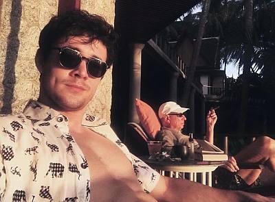 Jonah Hauer-King shirtless at jonahhauerking instagram