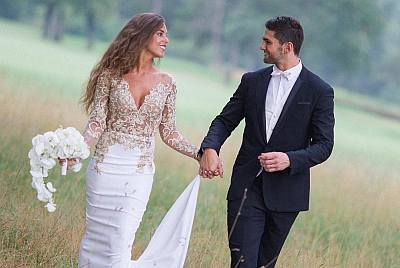 Xavier Mignot wife anastasia - wedding