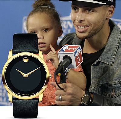 celebrities wearing affordable movado watch - stephen curry