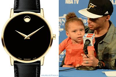 celebrities wearing movado museum classic - stephen curry