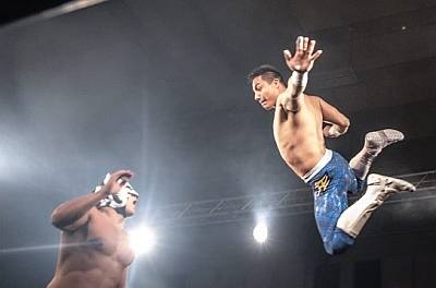jake atlas wrestling in action