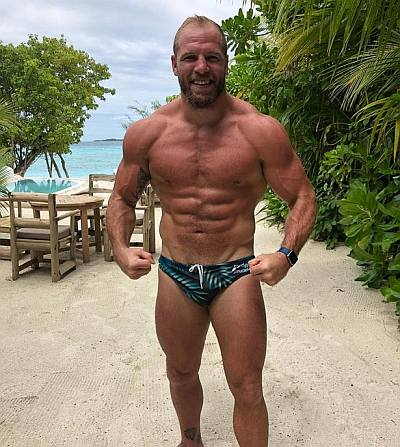 james haskell mma athlete in speedo
