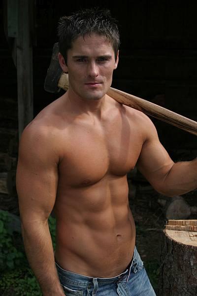lumberjack hunk - playgirl male model