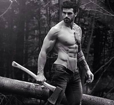 lumberjack hunk - stuart reardon