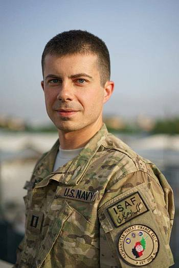 pete buttigieg hot men in uniform