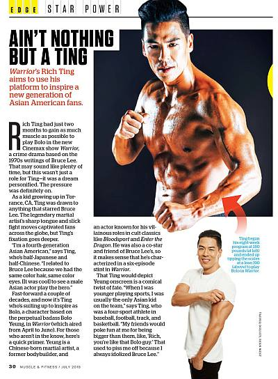 rich ting shirtless muscle and fitness magazine