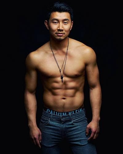 simu liu body shirtless