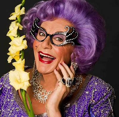 straight drag queens - Barry Humphries aka dame edna