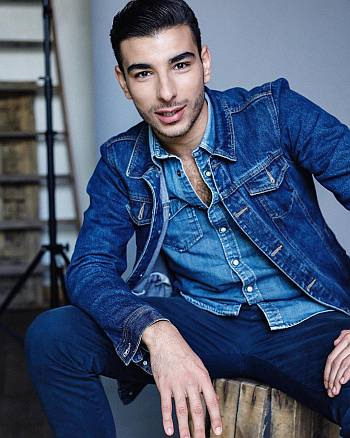 Fares Landoulsi smoking hot denim on denim fashion