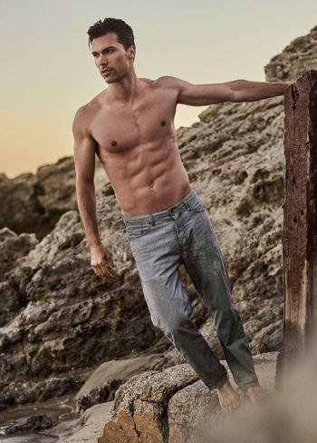 hunks in jeans - luke henry male model