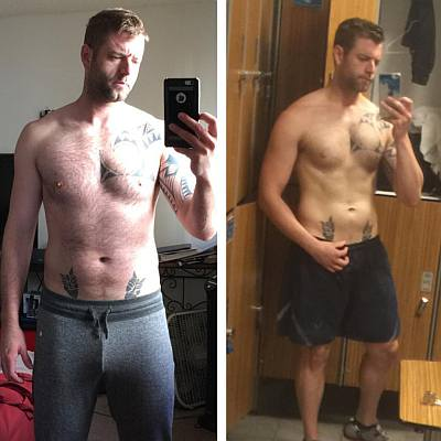 brock thompson shirtless spy games - weight loss