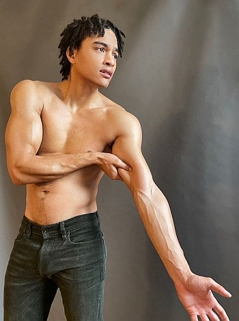 gabriel darku shirtless in jeans