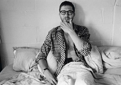 Ebon Moss-Bachrach open shirt - vogue homme magazine