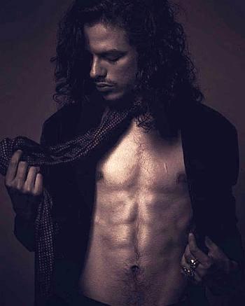 Jonny Beauchamp shirtless - open shirt style