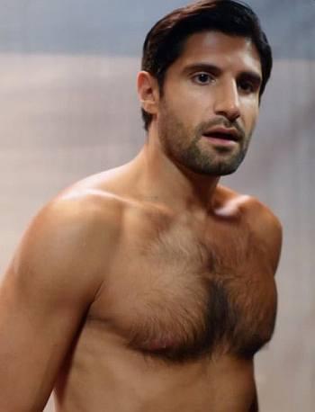 Kayvan Novak shirtless body