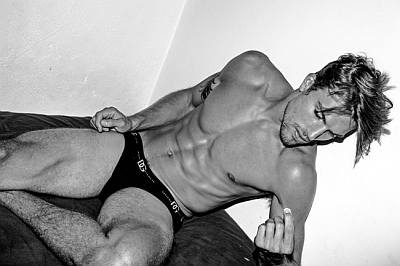 Luke Gulbranson underwear model - dolce gabbana briefs - photo by joseph lally