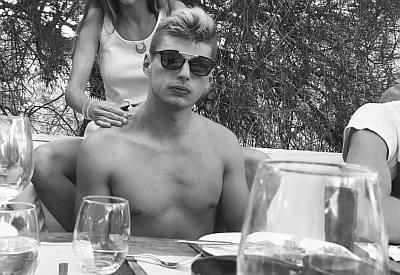 Max Verstappen shirtless