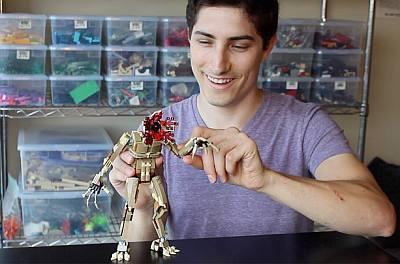 aaron newman lego masters - hot nerd guy