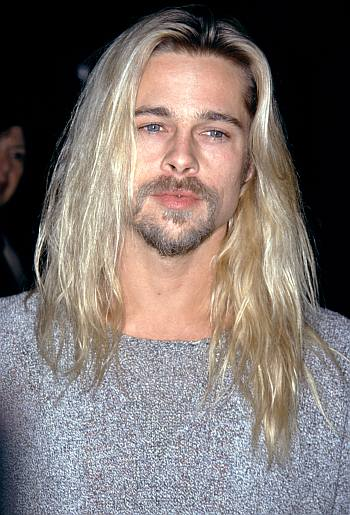 blond men are hot hairstyle - brad pitt long hair