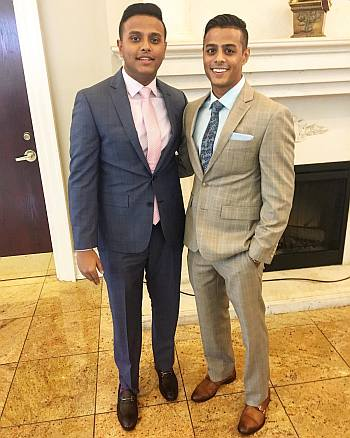 brian benni hot guy in suit - with brother nick
