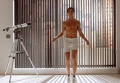 christian bale boxer shorts - jump rope workout