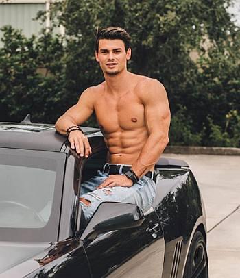 garrett miller shirtless body