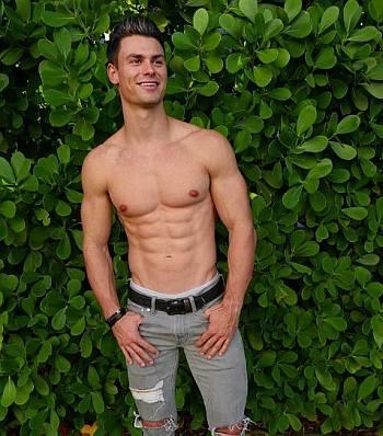 hot guys with abs garrett miller