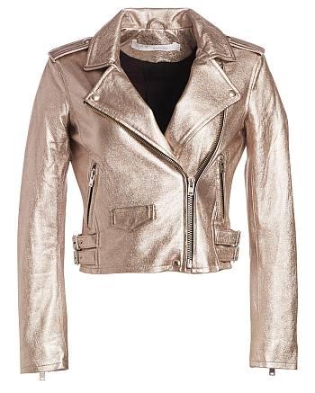 julia chan pepper smith leather moto jacket katy keene - Ashville Cropped Metallic Jacket by IRO