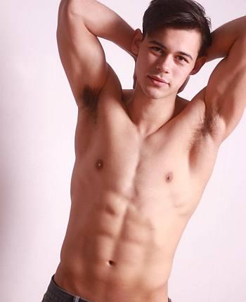 peter bundic shirtless washboard abs