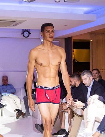 reebok mens underwear runway model