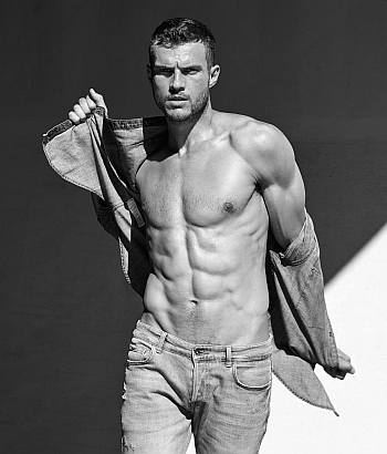 shirtless in jeans ryan cooper hot body