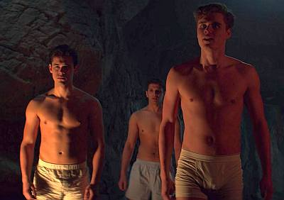 ty wood underwear with Peter Bundic and aaron hale