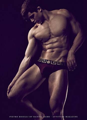 versace male underwear model - Pietro Boselli2