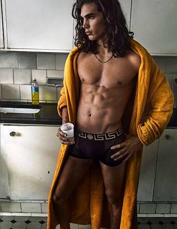 versace male underwear model - Vito Basso