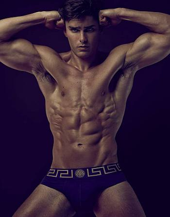 versace male underwear model - charlie matthews