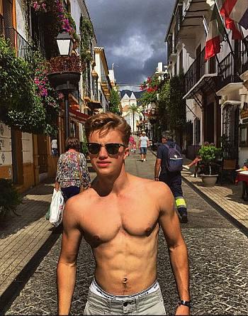 george sear underwear shirtless body
