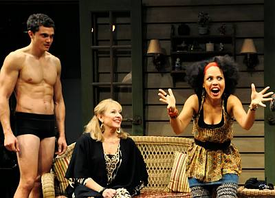 karl glusman underwear - boxer briefs - as spike in Vanya and Sonia and Masha and Spike in Pittsburgh in 2014