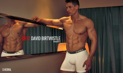 David Birtwistle underwear model for dh12 londonl