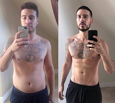 Vinny Guadagnino weight loss before and after keto