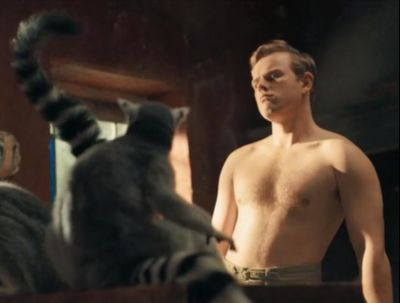 callum woodhouse shirtless as leslie durrell in the durrells2